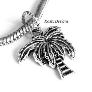 European Tropical Palm Tree Charm Bead Pendant